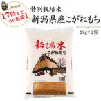 令和2年産 もち米15kg 特別栽培米新潟産こがねもち 5kg×3  送料無料(一部地域を除く)