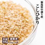 【送料無料】平成28年産福島県中通り産 コシヒカリ 玄米:25kg(5kg×5個)  【調整済】【精米、白米、無洗米対応不可】【送料沖縄900円】
