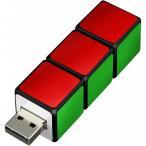 グリーンハウス キューブ形USBメモリー 4GB GH-UFD4GRBC