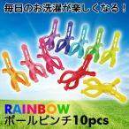 SUNNY RAINBOW ボールピンチ 10pcs 洗濯 ランドリー 物干し ピンチ 洗濯バサミ 洗濯ばさみ カラフル レインボー オシャレ 現代百貨 A302RA