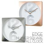 ショッピング壁掛け 時計 壁掛け 掛け時計 壁掛け時計 EDGE NUMBER SQUARE WALL CLOCK 30cm 四角 スクエア ウォールクロック 掛時計 壁掛け 壁時計 クロック