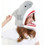 サメ DXキャップ さめ 鮫 ジョーズ 着ぐるみキャップ 帽子 かぶりもの コスプレ コスチューム 衣装 仮装 変装 小道具 サザック 2879