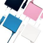 あすつく newニンテンドー3DS/3DSLL ケーブルの長さ2.5m コンセントが遠くても安心 長いAC充電器 アローン ALG-3DS250