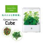 水耕栽培器 Green Farm Cube グリーンファーム キューブ(ホワイト) 家庭菜園 室内 栽培キット 食の安全 野菜 食育 シンプル コンパクト ユーイング UH-CB01G1W