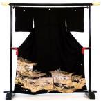 留袖レンタルフルセット「金屏風」re-tom-041 留袖 お留袖 黒留袖 とめそで 婚礼和装 礼装 和装 貸衣装 結婚式 和婚 神社式 人前式 貸衣裳 レンタル