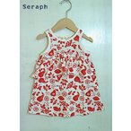 Seraph / セラフ 子供服 フルーツ柄ノースリーブワンピース  女の子  2018SS