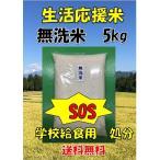 【給食米処分 無洗米5kg】 生活応援米業務用   数量限定  新潟産 5キロ 業務用米中米 送料無料