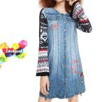 Desigual デシグアル レディース ミセス ファッション ワンピース 羽織 デニム 30代 40代 50代 ブルー M/L/XL/XXL/大きいサイズ 18WWVD01