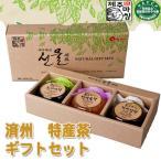 済州 特産 ギフトセット(デコボン茶・<em>五味子茶</em>・サボテン茶)(200gX3個入)★韓国食品市場★韓国食材/ お土産