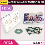 1��ͽ�������� TWICE - MERRY & HAPPY MONOGRAPH (1 DISC) 4��17��ȯ��ͽ�� 4��24��ȯ��ͽ�� ������ �̿��� PHOTOBOOK DVD KPOP
