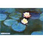 クロード・モネ「睡蓮?」95x150cm 肉筆油絵複製画