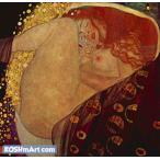 グスタフ・クリムト「ダナエ」37x38cm 肉筆油絵複製画