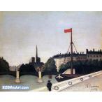 アンリ・ルソー「ノートル・ダム」42x54cm 肉筆油絵複製画