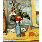 ポール・セザンヌ「青い花瓶」45x38cm 肉筆油絵複製画