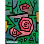 パウル・クレー「Heroic Roses」98x74cm 肉筆油絵複製画