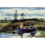 ウィンスロー・ホーマー「青いボート」37x54cm 肉筆油絵複製画