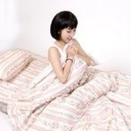 枕カバー 35×50cm 送料無料可愛い花柄のストラップ入り(安心品質国産/ピロケース/まくらカバー/日本製)