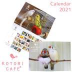 【ことりカフェ】 2021年版・毎日愛鳥カレンダー 壁掛けA3 キンカチョウ ◆ A3 令和3年