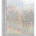 窓用フィルム ガラス 3D 目隠しシート UVカット 飛散防止 石柄 44.5x200cm 3D 窓飾りフィルム SV014-L100-EY445 (2枚入り)