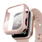Apple Watch Series4/Series5 40mm アップルウォッチ4/5 カバーフィルム PET 超薄型 全面保護 耐衝撃 PC 対応 (40mm, ピンク含有フィルム)商品代引不可