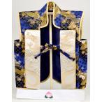陣羽織 北寿監修  陣羽織 金襴 龍飛翔 はち巻付 刺繍桃 木製専用飾り台付