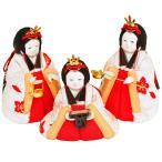 雛人形 木目込み こひな 人形工房天祥 限定オリジナル 木目込ひな人形 「こひなシリーズ 三人官女 単品 追加 刺繍仕様 流水桜」