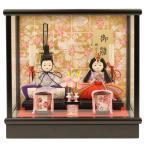 雛人形 ひな人形 ケース飾り コンパクト 人形工房天祥 限定オリジナル ケース飾入り 親王飾り 衣装着ひな人形 「芥子親王雛」(ガラスケース)
