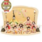 雛人形 こひな 十人飾り 木目込「こひな のしめ桜シリーズ 三人官女・五人囃子付き」