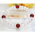 ブレスレット カーネリアン 赤メノウ 水晶 ブレスレット パワーストーン 天然石