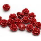 粒売り バラ売り 天然石 パワーストーン レッドコーラル 赤珊瑚 薔薇  ビーズ 水晶