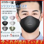 シリコンフィットマスク KN95 風邪 飛沫 花粉 洗える フィルター付き フィルター1枚付き 繰り返し使える メガネ曇らない 安全性 呼吸しやすい