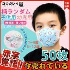 マスク 子供用 50枚 夏用 使い捨て 不織布 飛沫防止 花粉対策 3層構造 小さめ 可愛い 柄ランダム 3D 立体 子供マスク キッズマスク