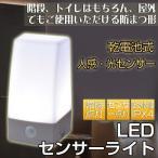 LEDセンサーライト 昼白色 おしゃれ 光センサー付き クローゼット ナイトライト led 電池式 人感センサー 防水 自動点灯 オーム電機