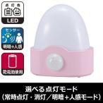 LEDセンサーライト 電球色 白色 足元灯 人感センサー付 明暗センサー 寝室や廊下 電池式 自動点灯 自動消灯 単3形乾電池2本(別売) オーム電機