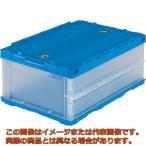 TRUSCO 薄型折りたたみコンテナ 30Lロックフタ付 透明 TRC30B TM