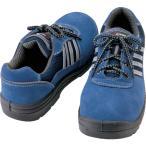 アイトス セーフティシューズ ウレタン短靴ヒモ  樹脂先芯 サイズ25.5cm ネイビー スリップサイン付 AZ59821-008-25.5