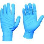 トラスコ 使い捨てニトリル手袋TGセーフ 0.13 粉無青L 50枚入 品番 TGNN13BL