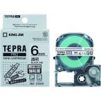 キングジム テプラPROテープ強粘着タイプ透明/黒字 ST6KW