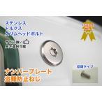 盗難防止ネジ ナンバープレートねじ交換用 ステンレス スリムヘッド ボルト 低頭 フラット トルクス 長さ 8〜40mm