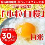 平成29年 新米 「小粒自慢」精米(白米) 30kg (10kg×3袋) 送料無料—離島・沖縄は送料別