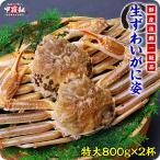 かに カニ 蟹 ズワイガニ 超特大サイズ 生ずわいがに姿800g前後×2尾入ギフト