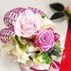 ショッピング薔薇 母の日ギフト アレンジ プリザ Happy Rose∬p-rose(P)§