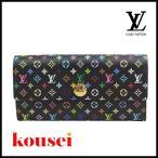 ルイヴィトン Louis Vuitton 財布 長財布 モノグラムマルチカラー ポルトフォイユ・サラ ノワール ブラック M60273 中古