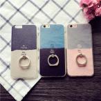 iphone5/5s/se iPhone6s iPhone6Plus アイフォン6 アイフォン6プラス デコケース ラインストーン 落下防止 リングスタンド スタンドホルダー カップル