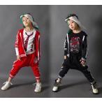 キッズ スウェット セットアップ ダンス衣装 上下半袖 2点セット Tシャツ サルエルパンツ ダンスウェア スポーツウェア べりダンス 演出服 ステージ衣装 舞台