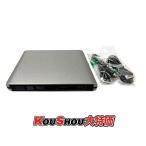 USB3.0接続 外付けブルーレイドライブ BD/DVD/CD書込可・読取可 Windows/Mac両対応 ブラック パナソニックUJ-260ドライブ採用! アルミボディ シルバー