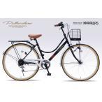 マイパラス 自転車 シティサイクル26 6SP オートライト ブラック M-504 送料無料 代引不可