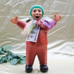 エケコ人形 エケッコ人形 特大 オレンジ 風水古銭付 ペルー産 エケッコ人形 仰天ニュース 幸せを呼ぶ 置物 飾り物 癒し 金運