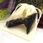 令和 記念 モリオン 黒水晶 原石 80g 巾着付 天然石 パワーストーン クラスター ポイント 置物