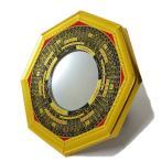 風水グッズ 八卦 羅盤 凸面鏡 金(大)風水 鏡 玄関 置